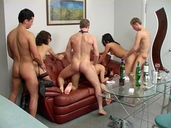 Student Disco Party and Intense Group Sex